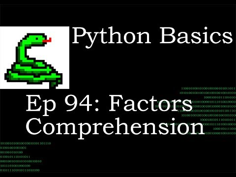 Python Basics Factor List Comprehension