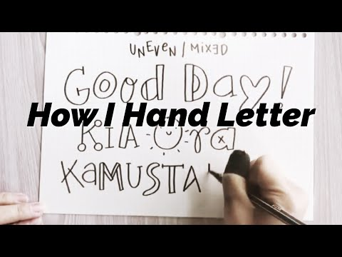 How To : Basic Hand Lettering (Learning my hand lettering techniques) | Doodles by Sarah