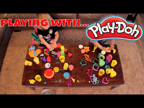 Playing With Play Doh!