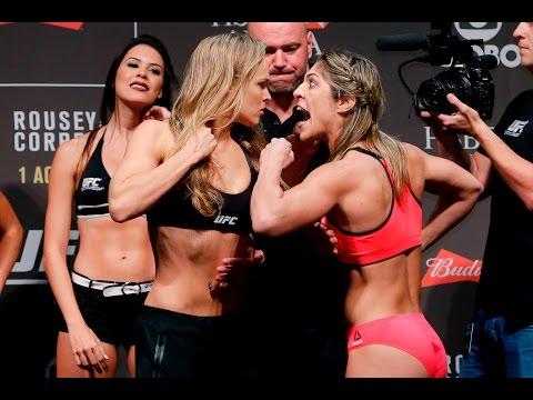 Ufc 190 Weigh Ins Ronda Rousey Vs Bethe Correia