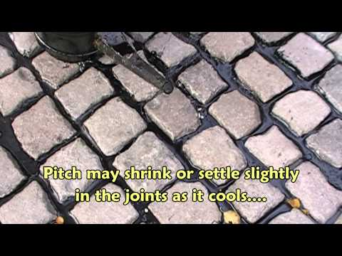 Pitch jointing for setts and cubes