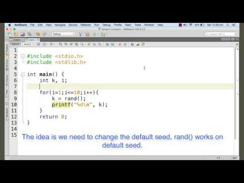 Generating random numbers, the rand function