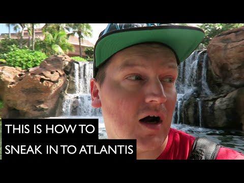 Sneaking In To Atlantis In Bahamas