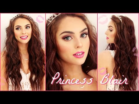 Blair Waldorf Pink Wedding Makeup & Wavy Hair Tutorial | Gossip Girl Inspired