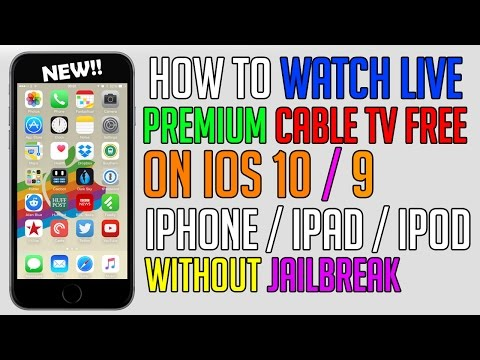 How To Watch LIVE Premium Cable TV FREE iOS 10 / 9 (NO JAILBREAK) (NO COMPUTER) iPhone, iPad, iPod
