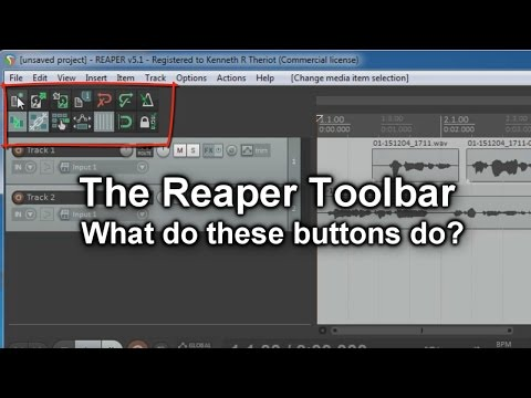 Reaper Toolbar- What All Those Buttons Mean