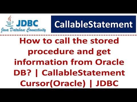 JDBC - CallableStatement Cursor(Oracle)