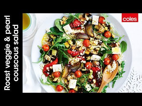 How to make a roast veggie & pearl couscous salad