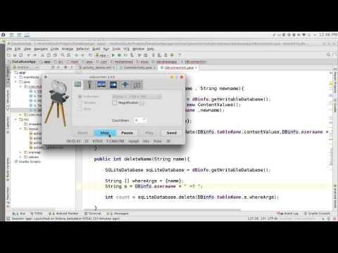 178 Android Studio SQLite Delete data