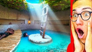 They Made The BEST SECRET UNDERGROUND POOL HOUSE!
