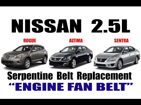 NISSAN 2.5L ENGINE FAN BELT REPLACEMENT