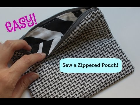 How to Sew a Basic Zippered Pouch