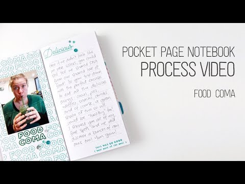 Pocket Page Notebook Layout // Food Coma // Use what works for you!