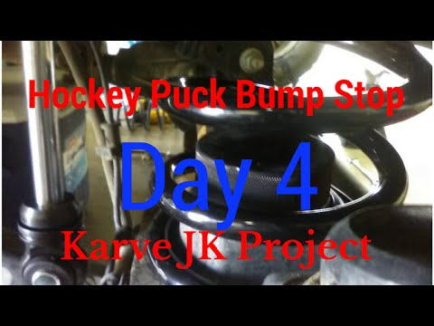 DIY How to install hockey puck bumpstops