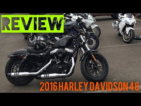 REVIEW - 2016 Harley Davidson Forty Eight 48 Sportster XL1200X
