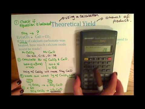 Gcse Additional Chemistry C2 Theoretical Yield Calculations