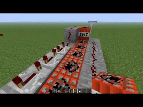 How to Make a TnT Cannon - Complete Guide Fast and Easy - Minecraft