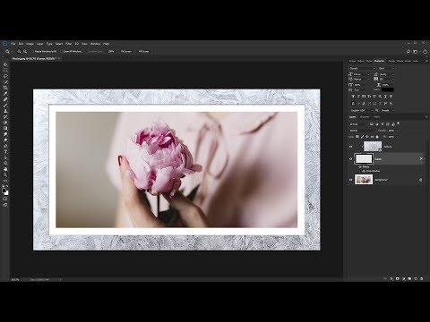 How to Create Photo Texture Border Frame in Photoshop