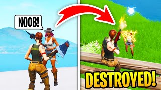 I Met A TOXIC GIRL In Fortnite Squad Fills, Then DESTROYED Her (RAGE)