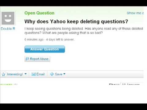 Why does Yahoo keep deleting questions?  DELETED QUESTION -- YAHOO CENSORSHIP