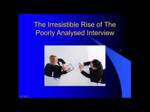 IIQM ATLAS ti Webinar Series  David Silverman, The Quality of Interview Research