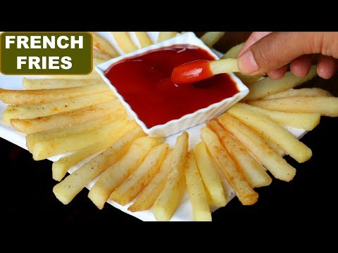 McDonalds फ्रेंच फ्राइज at HOME | Crispy French Fries Recipe in Hindi | Potato Fries | CookWithNisha
