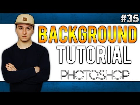 Adobe Photoshop CC: How To Add A White Background EASILY! - Tutorial #35