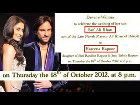 Xxx Mp4 Saif Ali Khan Amp Kareena Kapoor 39 S WEDDING CARD OUT 3gp Sex