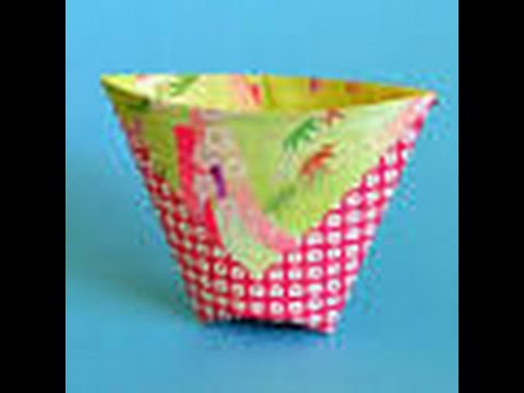 How To Make A Origami Drinking Cup