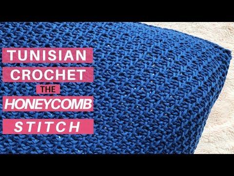 Learn the Tunisian Crochet Honeycomb Stitch, Start to Finish *Video Tutorial & New Pattern*