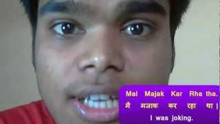 Learn to Speak Hindi 25 -  I was Joking !