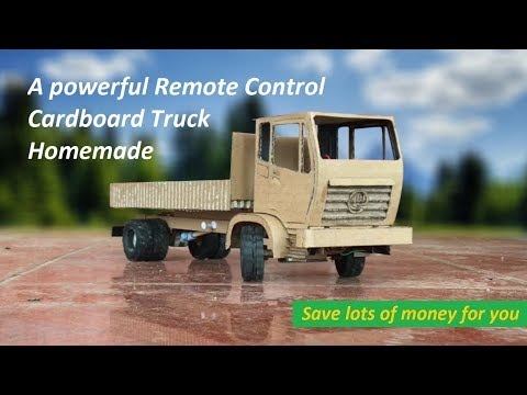 Remote Control hoememade How to Make a Cardboard RC Heavy Truck Very Simple by yourself