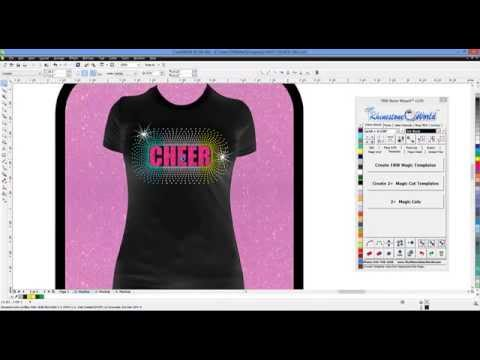 How to design a Rhinestone Cheer Shirt in the TRW Stone Wizard for CorelDRAW