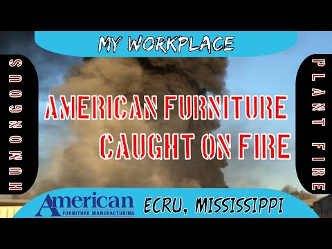 MASSIVE FIRE At American Furniture Manufacturing Inc. - Compilation Footage