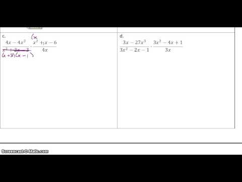 9.4 Multiplying and Dividing Rational Expressions