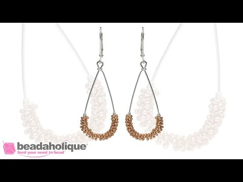 How to Coil Seed Beads Around a Wire Frame and Make a Statement Earring