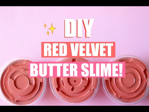 DIY RED VELVET CAKE BUTTER SLIME WITH REAL COCOA POWDER!! - Easy slime recipes 💕