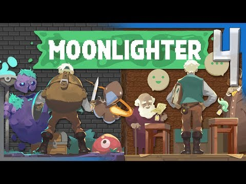 GOLEM BOSS FIGHT AND UPGRADING ARMOR! | Moonlighter Gameplay/Let's Play S2E4