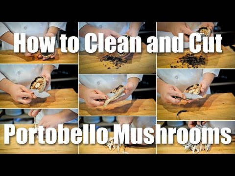 How To Clean And Slice A Portabella Mushroom
