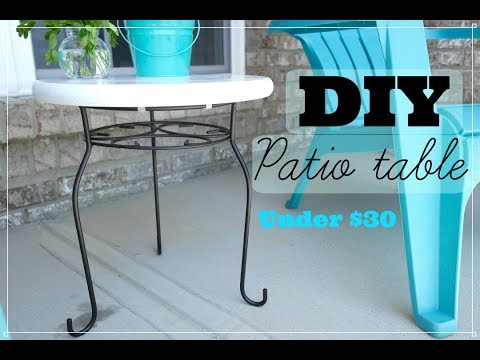 How To Make An Easy Patio Table || Cost less than 30 dollars || Outdoor DIY
