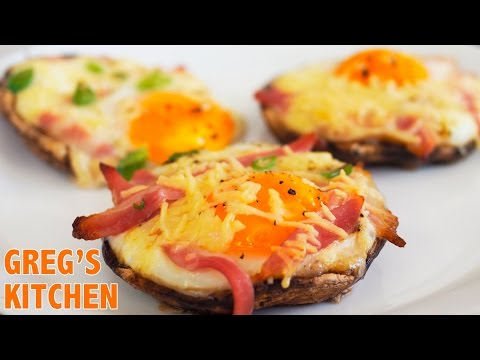 HOW TO MAKE BACON AND EGG PORTOBELLO MUSHROOMS - Greg's Kitchen
