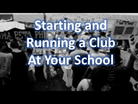 Tips on Starting/Running a Club at Your School
