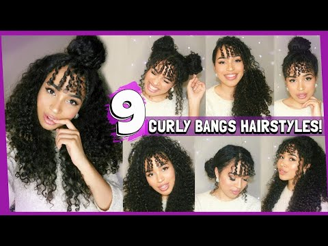 9 CURLY HAIRSTYLES FOR CURLY BANGS/FRINGES - NATURALLY HAIR by Lana Summer