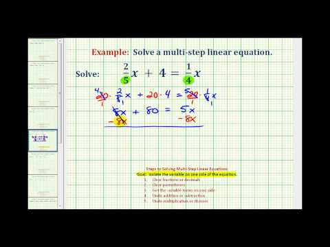 Ex 1:  Solve an Equation with Fractions with Variable Terms on Both Sides