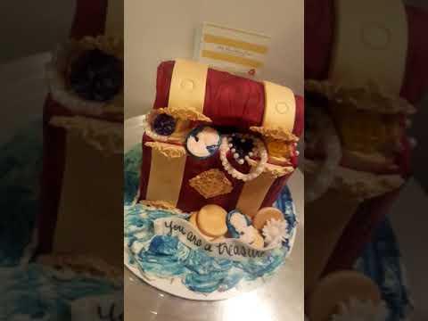 Treasure chest cake.