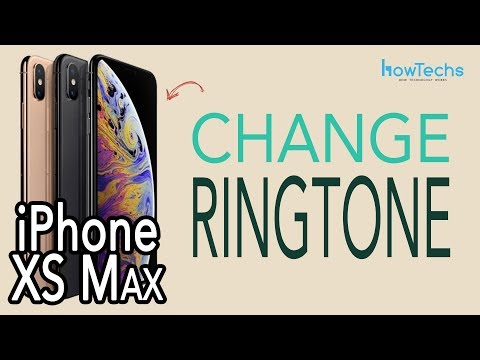 iPhone XS Max Dual SIM - How to Change the Ringtone | Howtechs