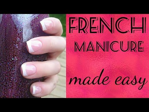 How to do a French manicure with gel polish