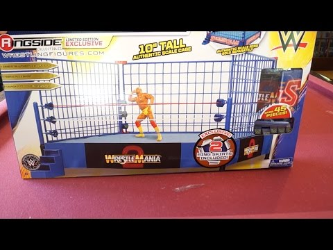 WWE Authentic Scale Ring Classic Blue Cage Ringside Collectibles Unboxing, Construction & Review!!