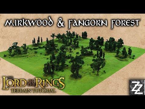 Fangorn & Mirkwood Forest Lord of the Rings Gaming Board ~ Terrain Tutorial