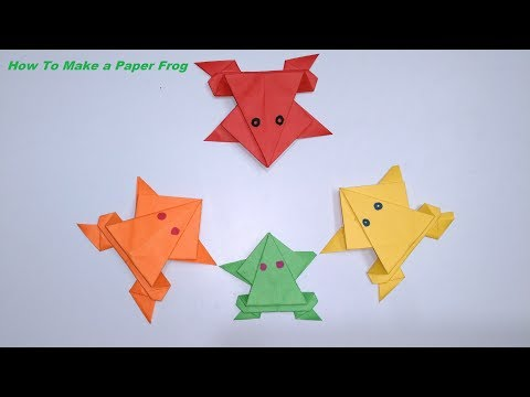DIY Crafts : Paper Frog || How To Make a Paper Frog || Origami Frog Simple